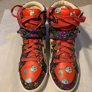 Coach Pembroke Tea Rose High Top Sneakers